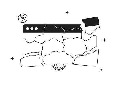 Tokyo Illustrations 🇯🇵 error 404 linear outline pack resources design ui vector set illustration kapustin