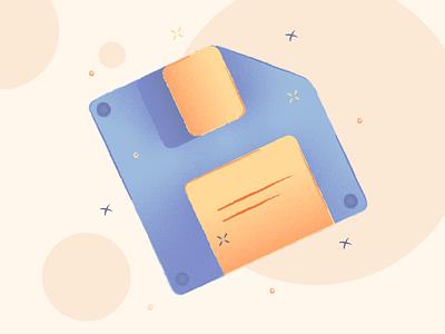 Porto Illustrations 🌅 disk floppy save download free resources design colorful vector set illustration kapustin