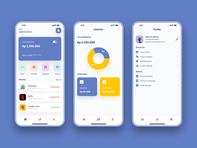 Digital Wallet Concept App design ux ui wallet finance