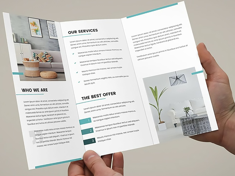 Brochure   Interior Design Tri Fold Template 2