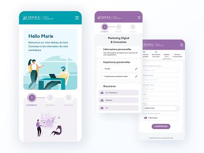 Online Application illustration branding ux ui app design application dashboad app school