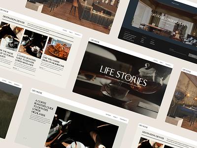 Life Stories lifehouse stories hospitality hotel blog minimal design brand branding webflow