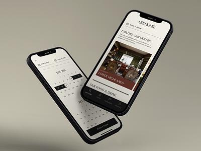 Life House iOS app lifehouse hotel iphone branding ios app design ux ui