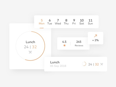Components mobile branding icon app dashboard app ios iphone flat design ux ui