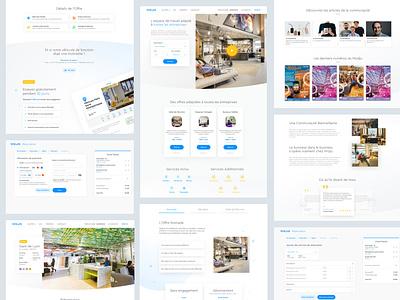 Wojo responsive website coworking webdesign workspace atomic design website responsive ux ui