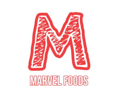 Marvel Foods logo sketch branding logobrand logo design food brand logo