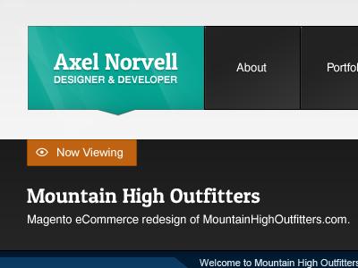 Axelnorvell.com portfolio gallery view
