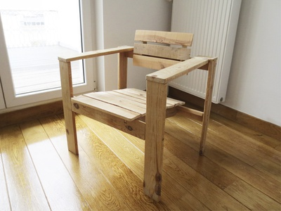 Pallet Armchair By Alberto Sorribes