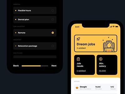 Launchpad uxui ux product design ios software dark ui app