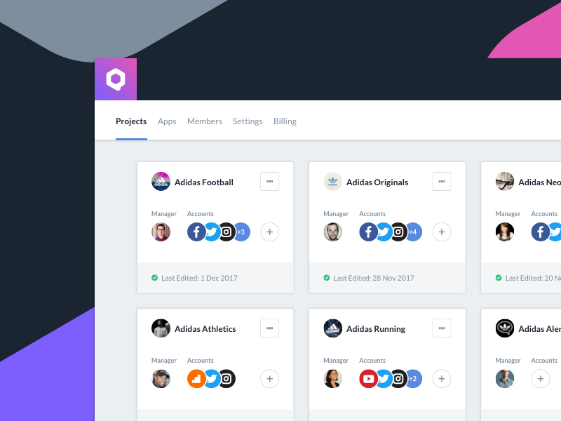 Qurate social software projects dashboard