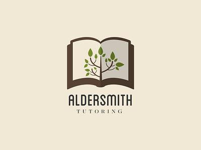 Aldersmith branding green illustration design logo