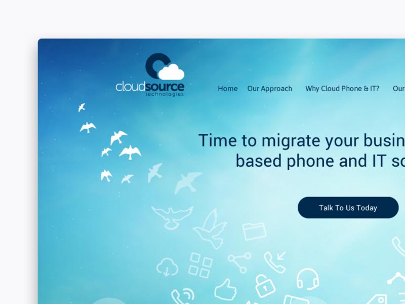 Cloud Source illustration design branding blue abstract