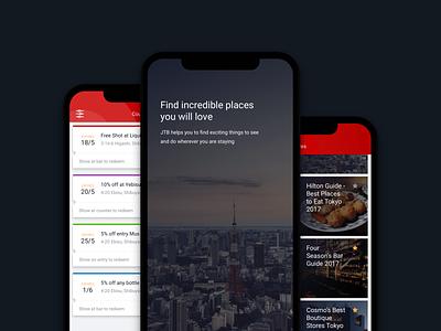 JTB Travel Navigator software product design travel mobile app ios mobile ux designer ui