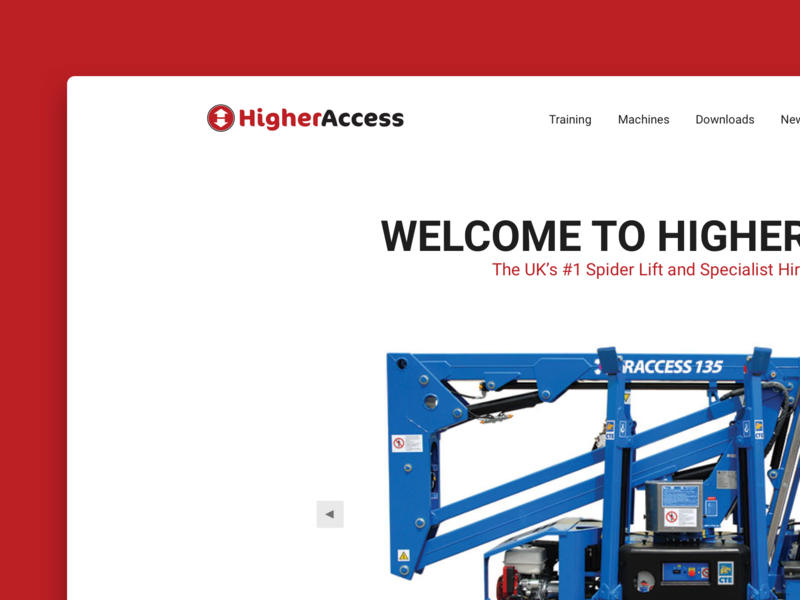 Higher Access corporate white clean ux ui responsive website