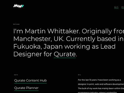 Portfolio Website montserrat dark ux ui portfolio