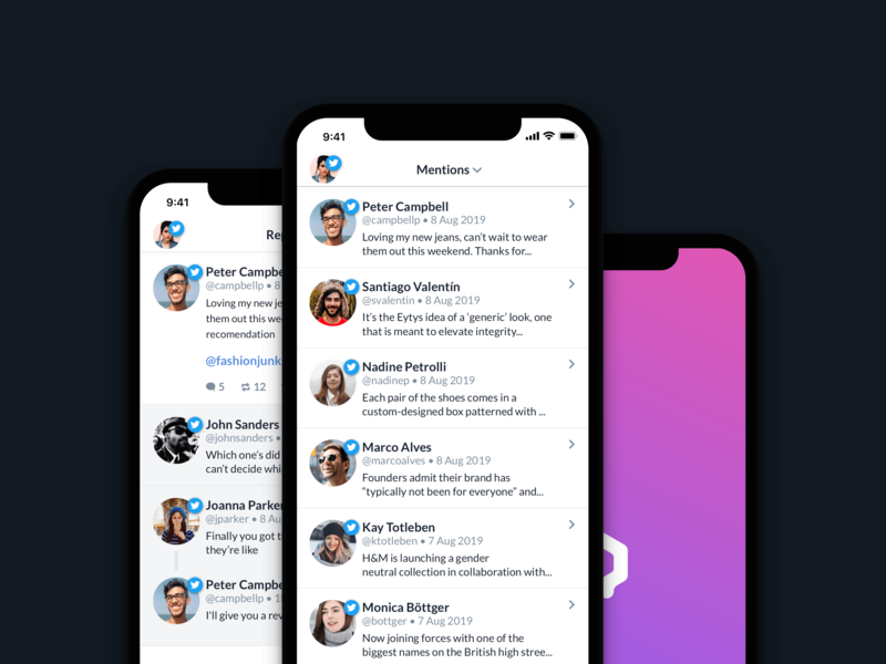 Qurate Engage product design software design marketing social media ios app ux ui
