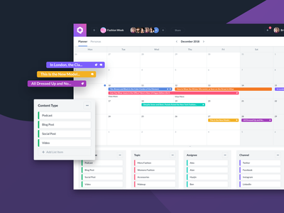 Qurate Planner planner analytics design product design ux ui dashboard