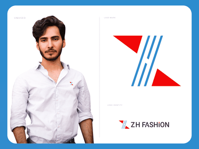 ZH FASHION LOGO DESIGN fashion brand fashion app fabric clothing clothing brand mobile app h logo z logo modern logo branding lettermark logos abstract logo logodesign logodesigner logomaker creative logo logotype logo design concept