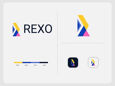 Branding Letter R Logo Design For REXO logo design letter m logo abstract logo lettermark branding logodesigner modernlogo logomaker creative logo logotype logo design concept