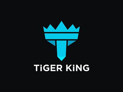 TIGER KING LOGO CONCEPT logo logos logodesign branding logodesigner abstract logo modernlogo logomaker creative logo logotype logo design concept