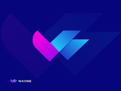 W Letter Mark for WAVINE w letter mark w letter logo w logo combination mark wavine wavine lettermark logodesign branding abstract logo logodesigner modernlogo logomaker creative logo logotype logo design concept