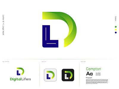D L modern logo mark creativity branding design logo design branding logo typography logo type logo design logos monogram logo combination mark creative logo design lettermark branding logodesign logodesigner abstract logo modernlogo logomaker creative logo logotype logo design concept