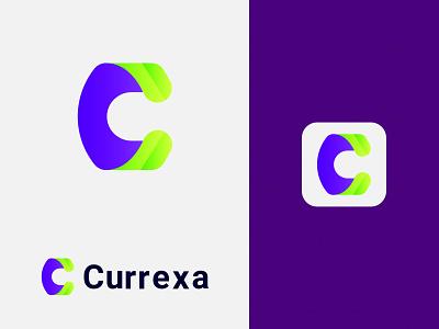Currexa - Letter C modern Logo Design abstract mark gradiant 3d graphic design logo illustration design logodesigner abstract logo modernlogo logomaker logotype logo design concept modern logo creative logo uniqe logo modern c logo c app icon letter c