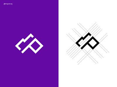 mp monogram logo brand identity brand personal branding startup logo maker minima flat logo typography letter mark simple logo abstract modern logo design art vector monogram logo p logo m logo mp logo