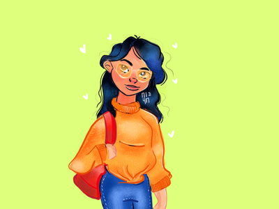 Hello Dribbble! drawing girl firstpost illustration design