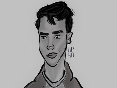 A quick lil' sketch drawing design autodesksketchbook man boy illustration