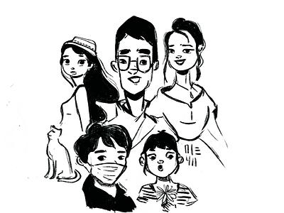 scribbles man boy girl autodesksketchbook illustration drawing design scribbles