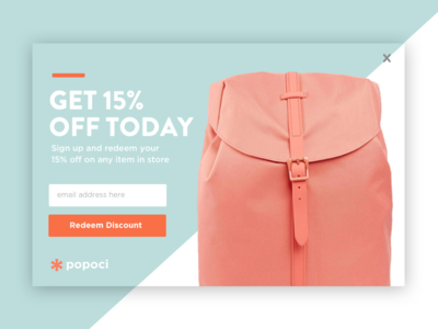 Popoci deals discounts product overlay dialog download promotion