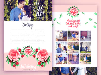 Love under the willow tree ux ui website ornaments floral handlettering wedding