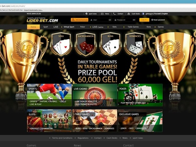 Lider-bet table games igrosoft slots dominoes cards poster banner web design tournaments table games gambling casino online casino