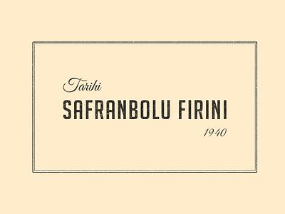Tarihi Safranbolu Fırını logo branding corporate id bakery cakeshop