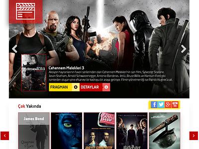 Sinema movies website webdesign design web interface movie site