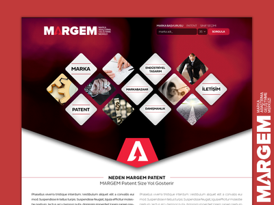 Patent and Trademark Office - MARGEM website design webdesign web site company web site patent company