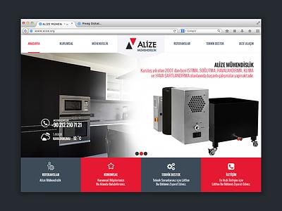 Web Design - Alize web design button ui navigation typography interface site engineering