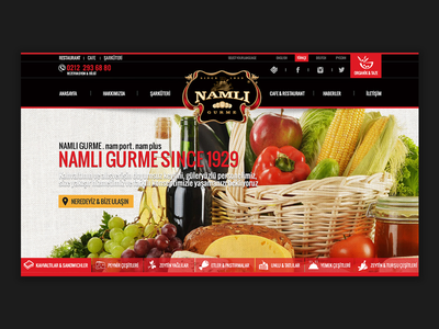 Web Design - Namlı web design button ui navigation typography interface site gourmet restaurant cafe