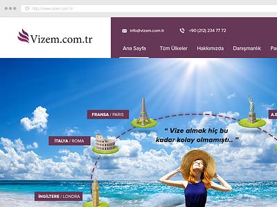 Vizem (Visa Site) visa responsive web design webdesign