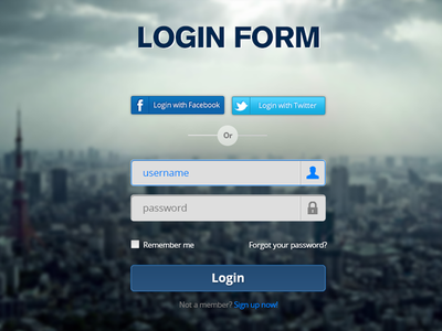 Login Form - PSD login form psd photoshop freebie