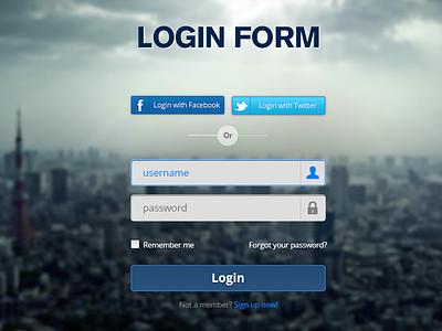 Login Form - PSD login form psd photoshop freebie