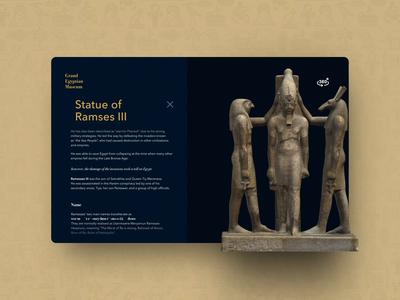 Grand Egyptian Museum Concept egypt egyptian pharaoh website flat web icon app typography ux vector ui design illustration animation