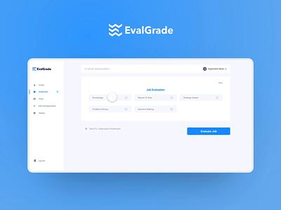 EvalGrade SaaS website website interface ux ui minimal design animation typography illustration branding
