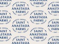 St. Anastasia Farms pattern stamp logo badge typography type lockup