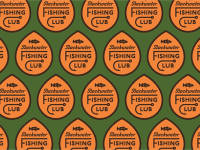 Backwater Fishing Club Palette sans script branding badge logo typography fisherman river lake pond water trout bass cast bait anglers fly fishing fishing fish