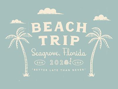 Beach Tee - Final 30a retro vintage texture merch apparel beach