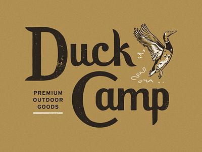 Duck Camp Lettering illustration duck type lettering
