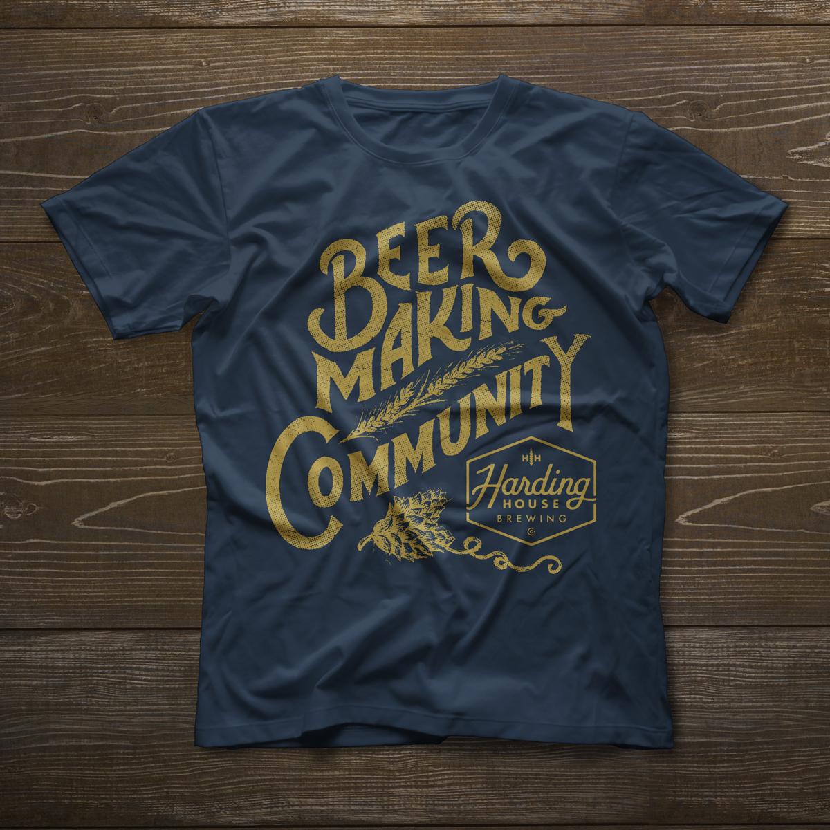 Beer making community tee