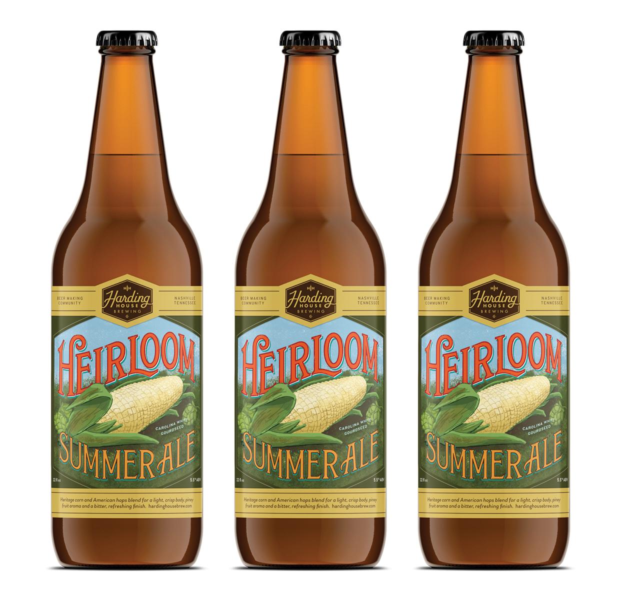 Heirloom summer ale bottles